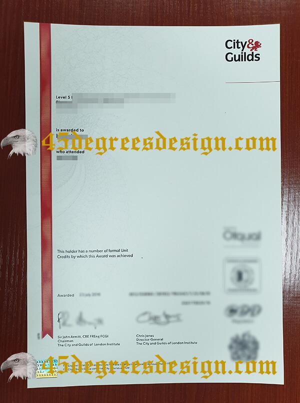 City Guild level 5 NVQ diploma