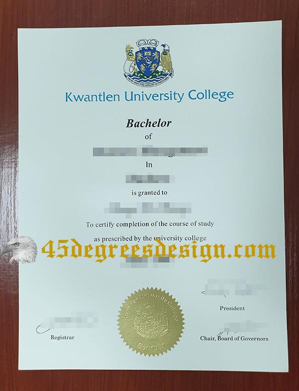 Kwantlen Polytechnic University fake degree