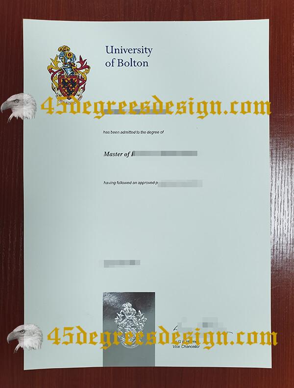 University of Bolton degree