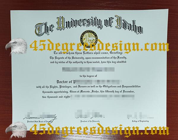 University of Idaho degrgee