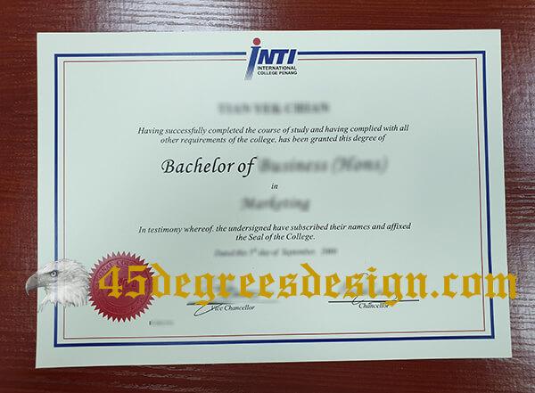 INTI International University fake diploma