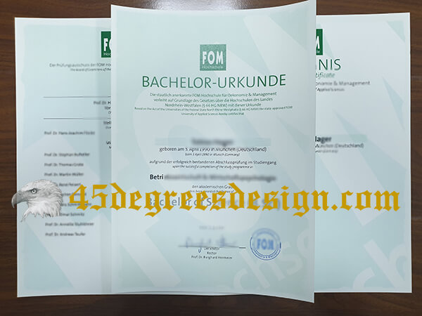 Fake FOM Hochschule Diploma And Transcript