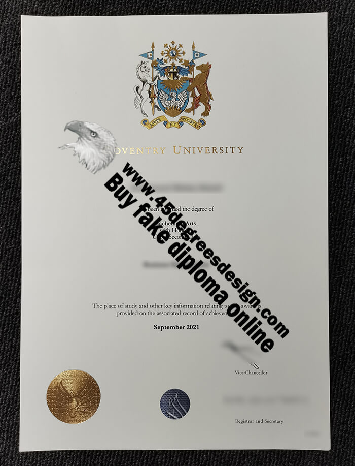 Coventry University degree bachelor of arts in 2021