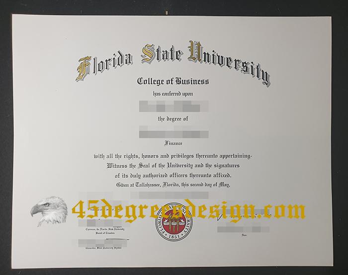 Florida State University diploma
