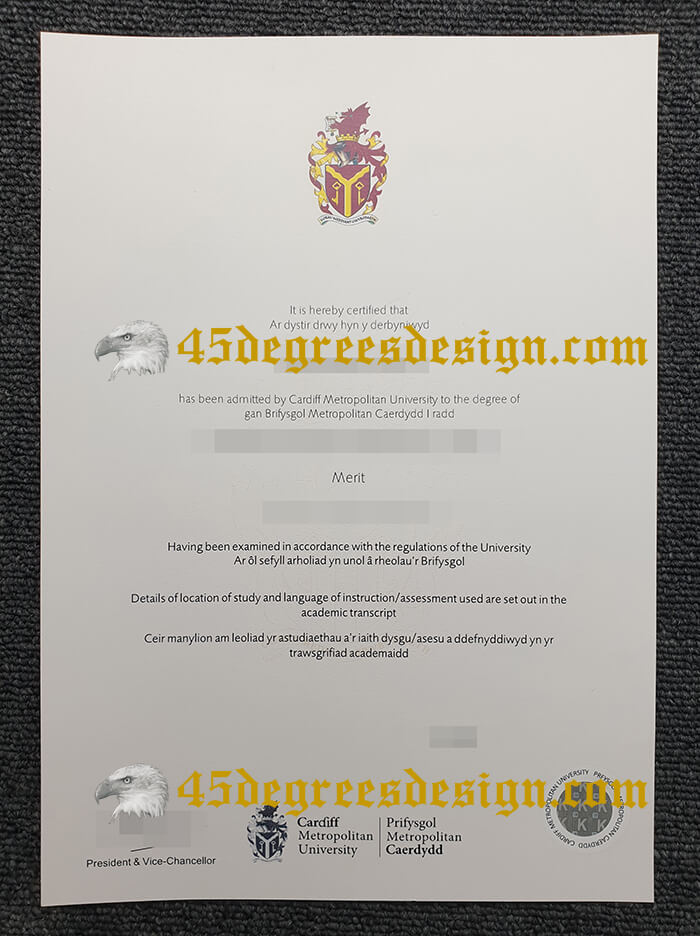 Cardiff Metropolitan University diploma