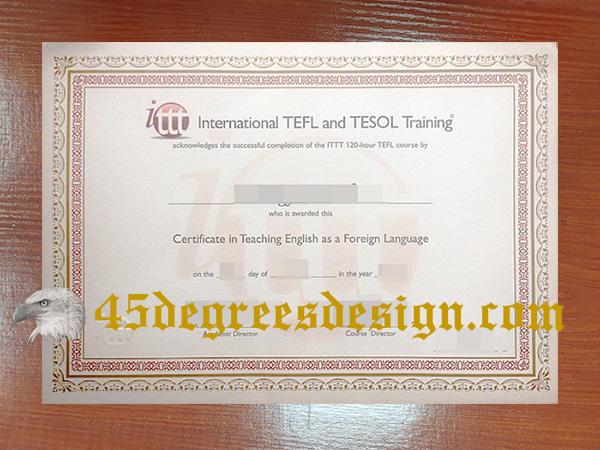 TEFL / TESOL qualification certificate