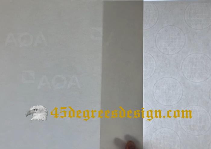 watermark paper of degree