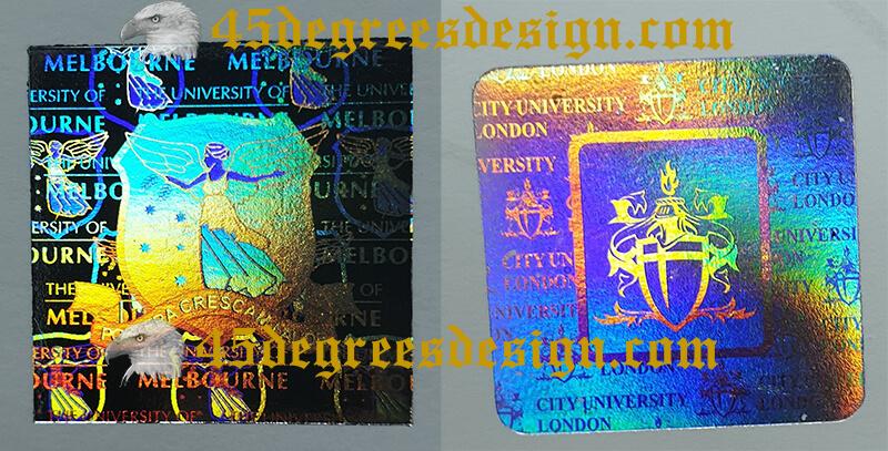University of Melbourne degree hologram