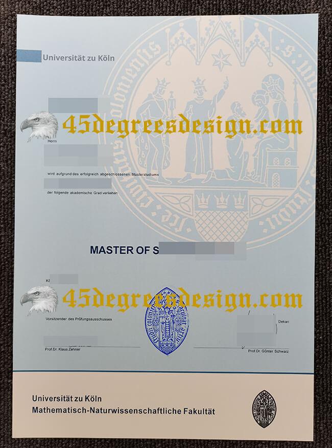 Fake Universität zu Köln Zeugnis diploma