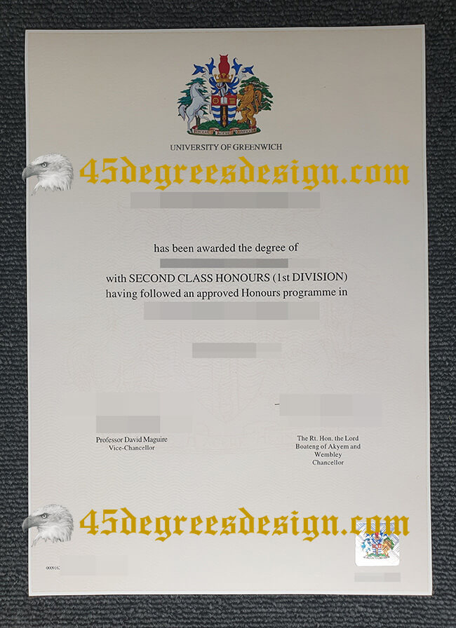 University of Greenwich diplom