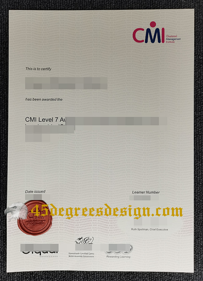 Chartered Management Institute fake certificate