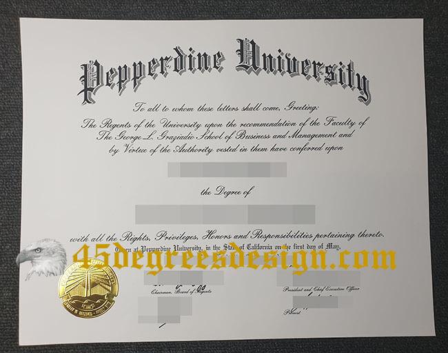 Pepperdine University diploma