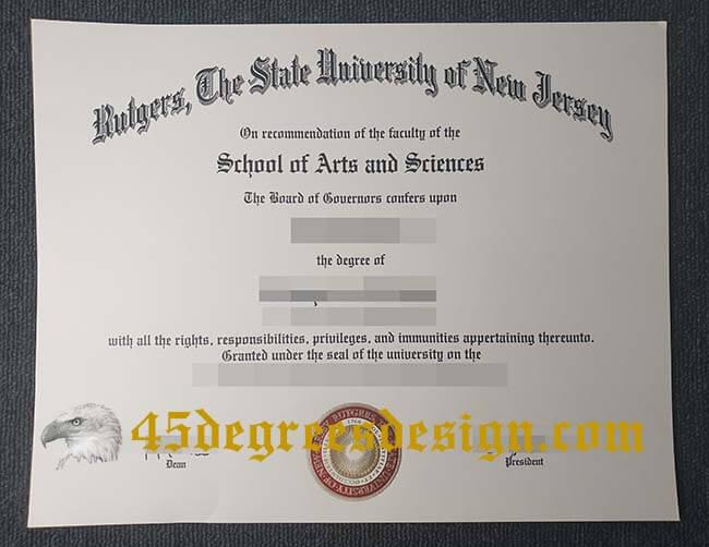 Rutgers University diploma