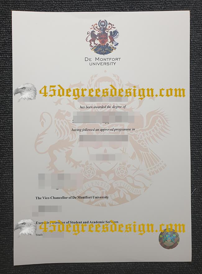 De Montfort University Leicester  diploma