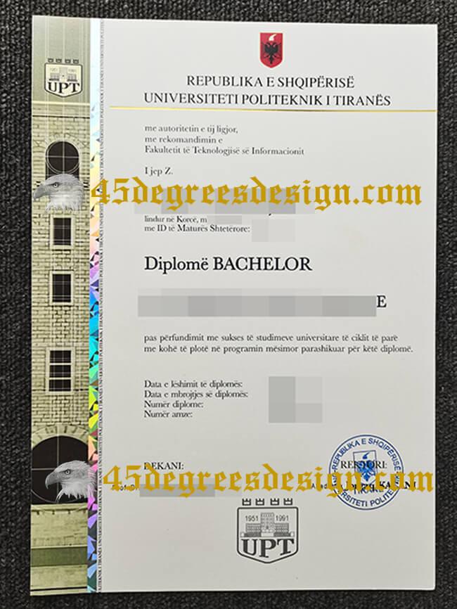 Universiteti Politeknik i Tiranës diploma