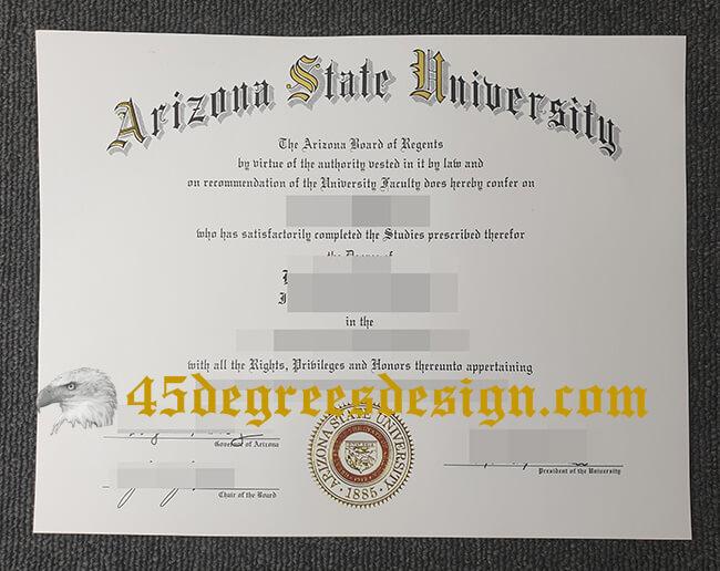 ASU diploma, fake degree