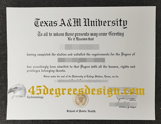 Texas A&M University diploma