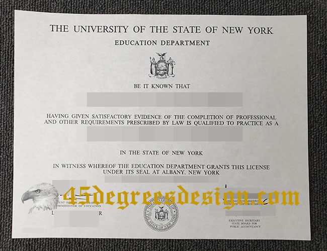NYS CPA License