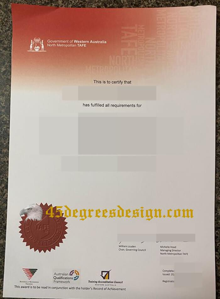 buy fake North Metropolitan TAFE diploma