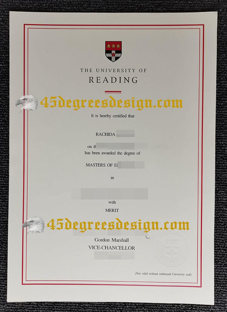 University of Reading diploma