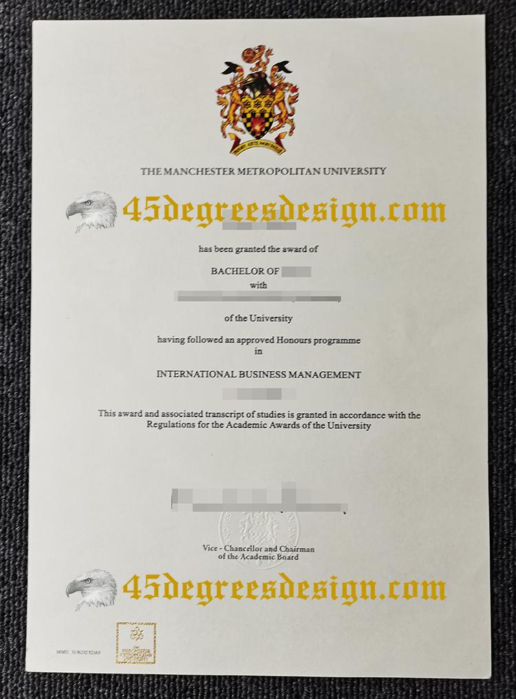 Manchester Metropolitan University (MMU) diploma
