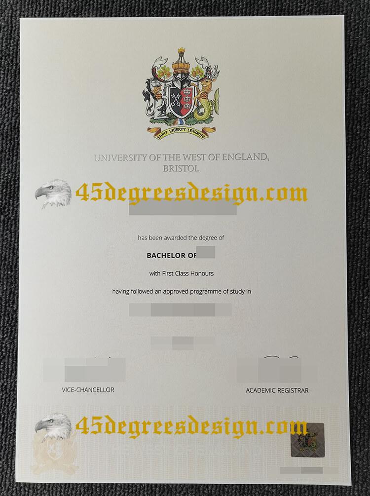 UWE Bristol diploma