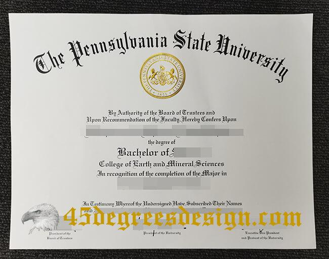 Make sure you get a real Pennsylvania State University fake diploma