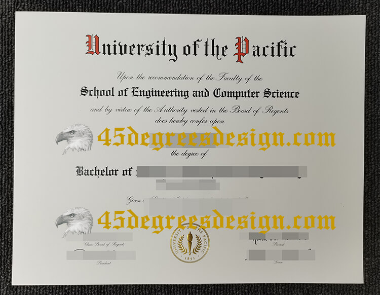 University of the Pacific diploma