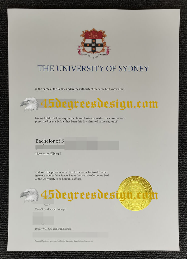 how to make fake University of Sydney degree certificate?