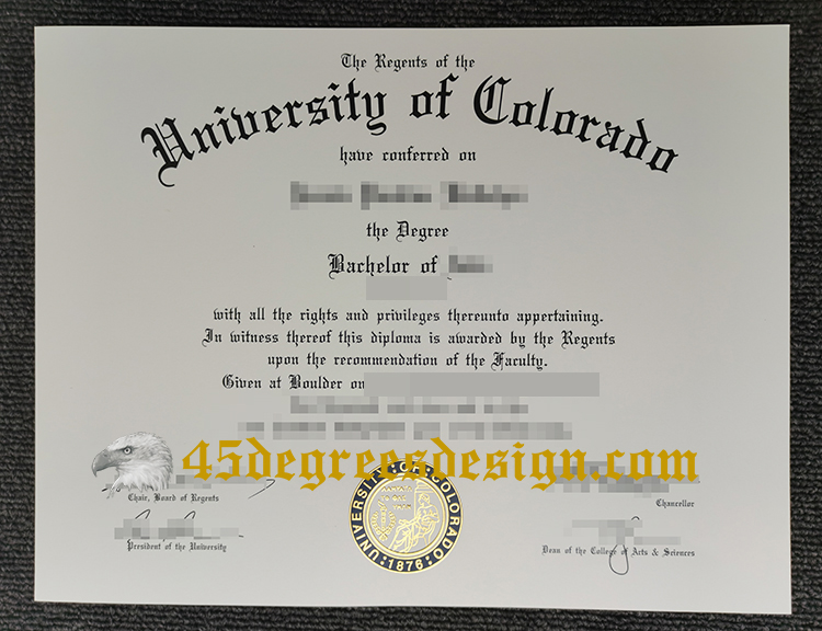 University of Colorado diploma