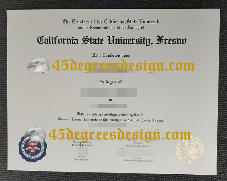 California State University, Fresno (Fresno State) degree