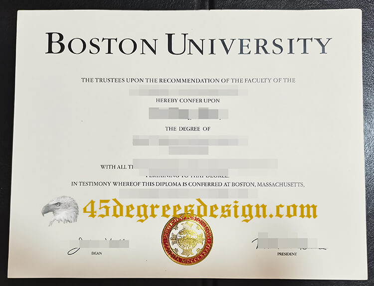 Boston University degree