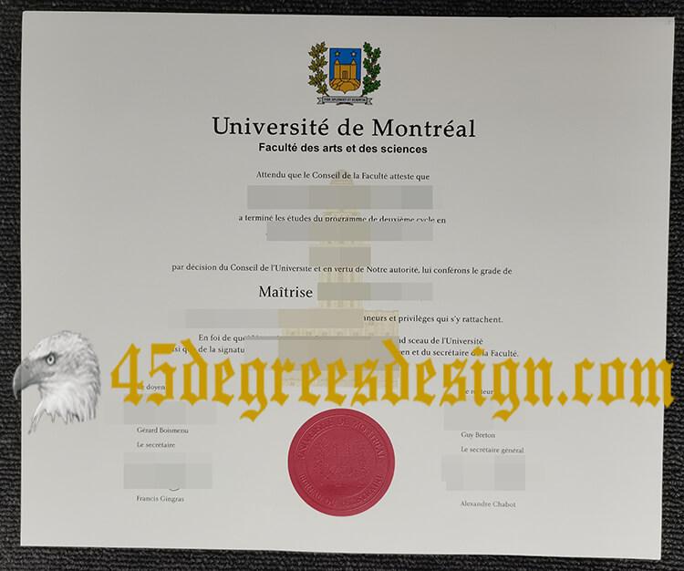 Université de Montréal degree