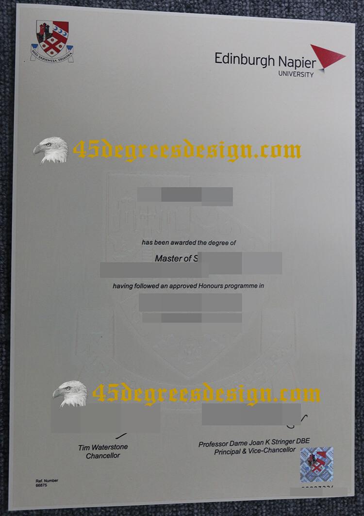 Edinburgh Napier University degree
