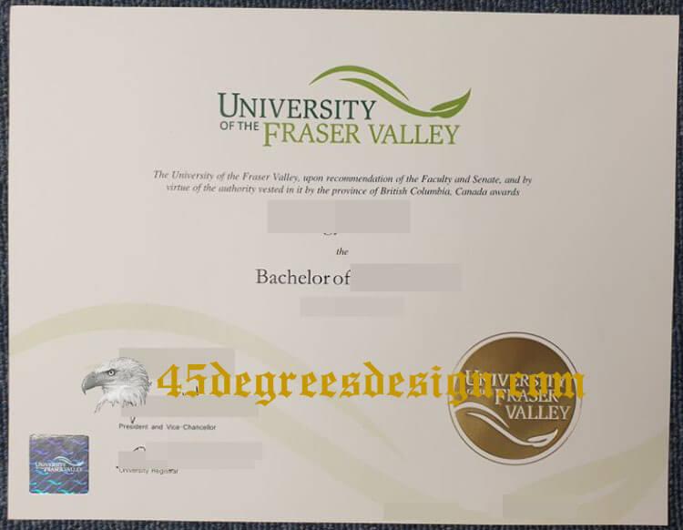 University of the Fraser Valley degree