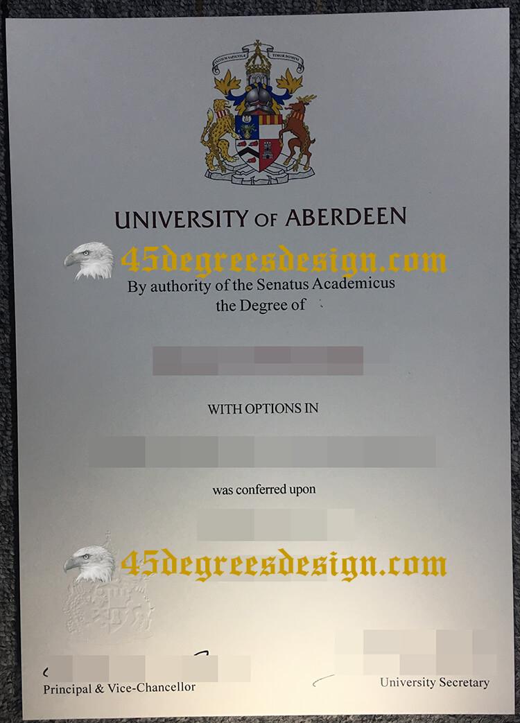 University of Aberdeen degree