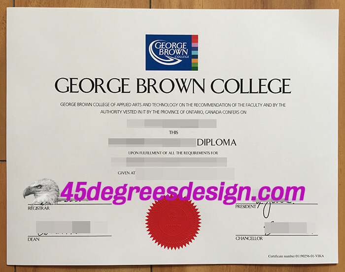 George Brown College diploma