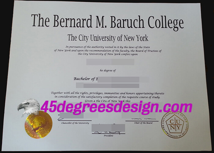 Baruch College Degree