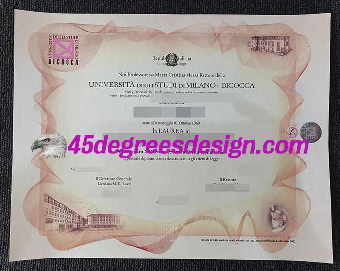 Università degli Studi di Milano-Bicocca diploma