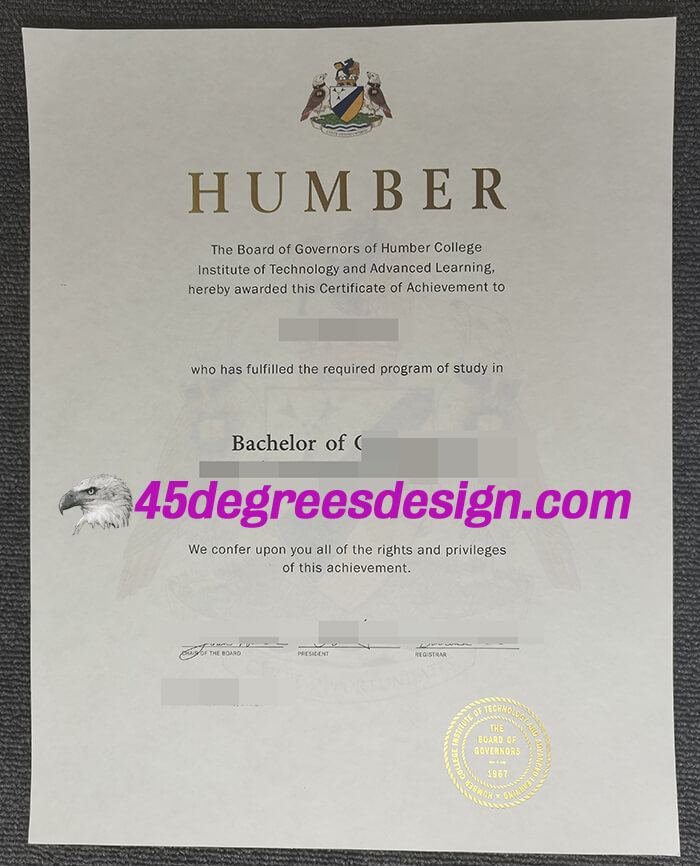 Humber College diploma