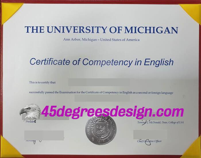 University of Michigan degree