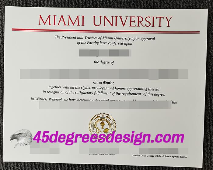 Miami University degree