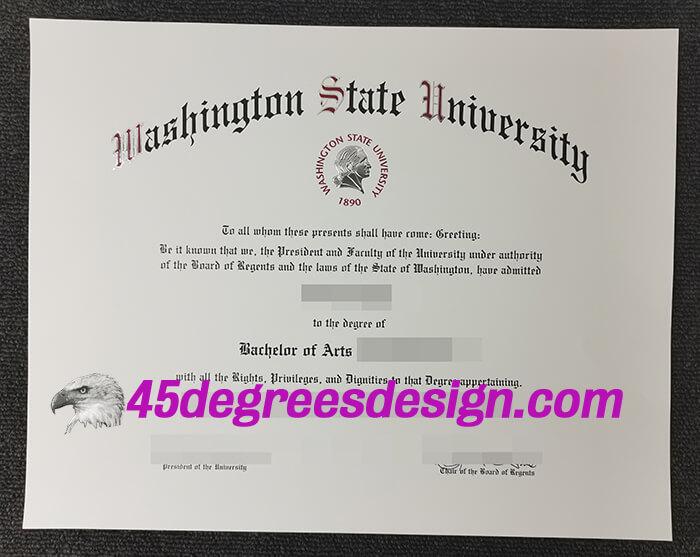Washington State University diploma