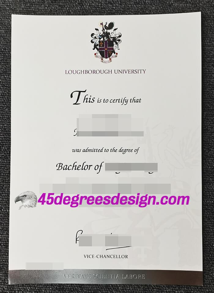 Loughborough University diploma