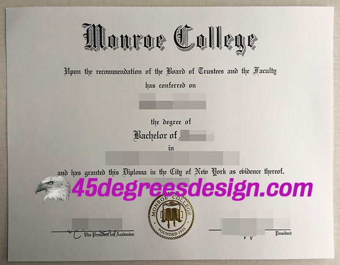 Monroe College degree