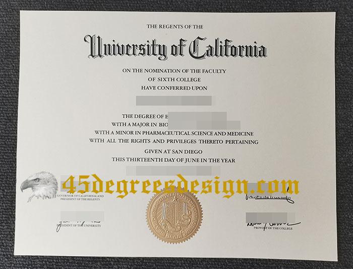 fake UC San Diego diploma