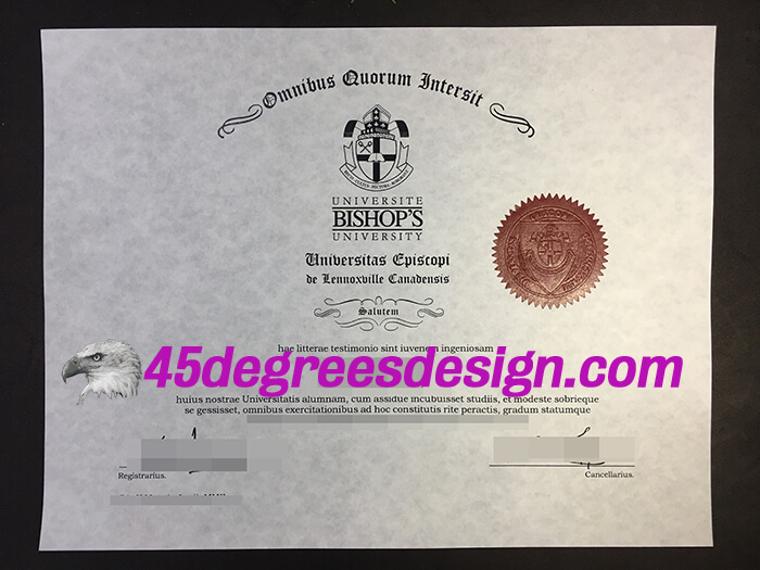 Bishop's University diploma