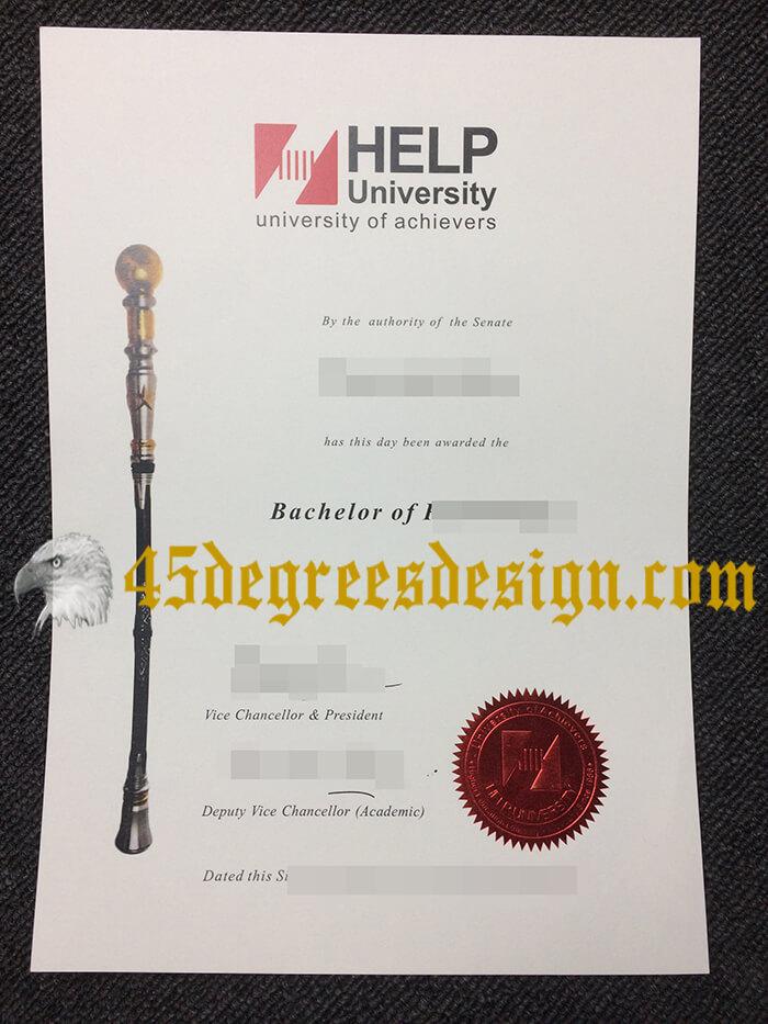 HELP University diploma