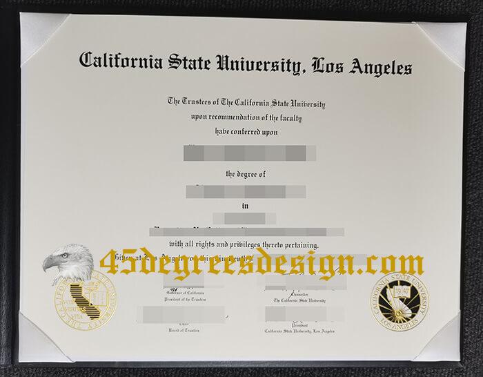 Cal State LA diploma