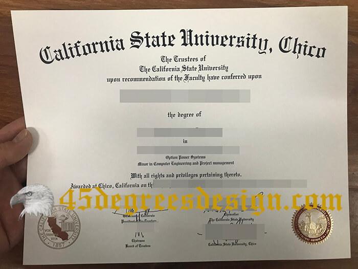 CSU Chico diploma